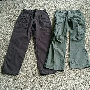 Lot of 2 pairs of Cabela's cargo pants. Size 4.